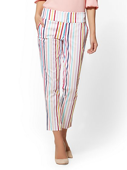 7th Avenue Pant - Multicolor Stripe Ankle - Modern - New York & Company
