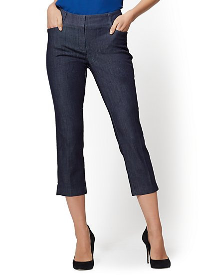 7th Avenue Pant - Navy Crop Slim-Leg - Signature - New York & Company