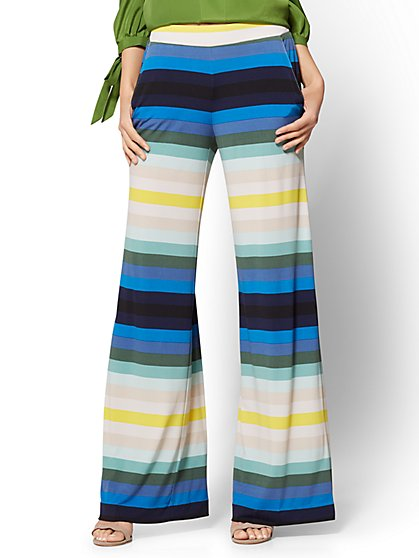 7th Avenue Pant - Palazzo - Stripe - New York & Company