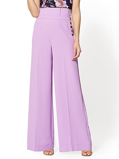 7th Avenue Pant - Petite Lavender Palazzo - New York & Company