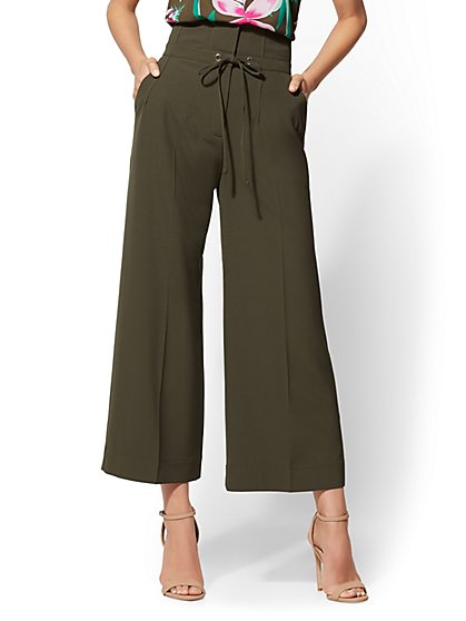 7th Avenue Pant - Petite Paperbag-Waist Culotte - New York & Company