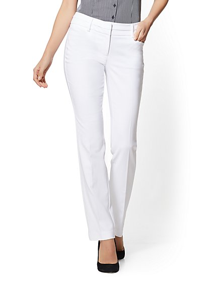 7th Avenue Pant - Petite Straight-Leg - Signature – All-Season Stretch - New York & Company
