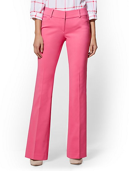 7th Avenue Pant - Pink Bootcut - Modern - All-Season Stretch - New York & Company