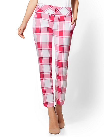 7th Avenue Pant – Plaid Ankle – Modern - New York & Company