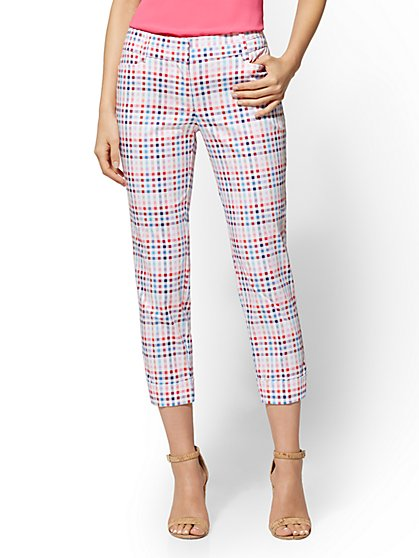 7th Avenue Pant - Plaid Crop Slim Leg - Modern - New York & Company