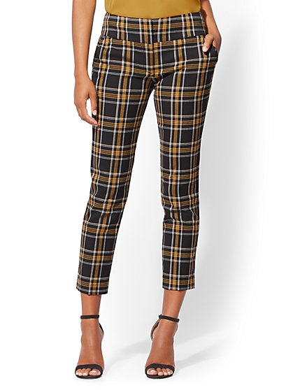 7th Avenue Pant - Plaid Slim Ankle - Modern - New York & Company