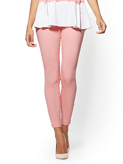 7th Avenue Pant - Pull-On - Slim Leg - Signature - Pink - New York & Company