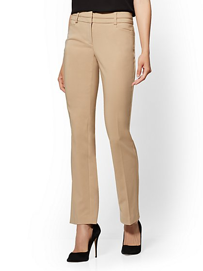 7th Avenue Pant - Straight-Leg – Signature – All-Season Stretch - New York & Company