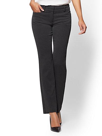7th Avenue Pant - Straight Leg - Signature - Black & White Dot - New York & Company