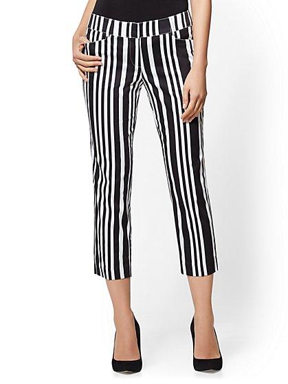 7th Avenue Pant - Striped Crop Slim-Leg - Signature - New York & Company