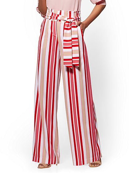 7th Avenue Pant - Striped Palazzo - New York & Company