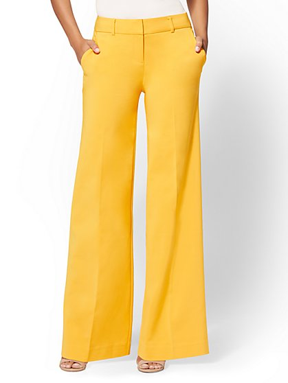 7th Avenue Pant - Yellow Tall Wide-Leg - All-Season Stretch - New York & Company