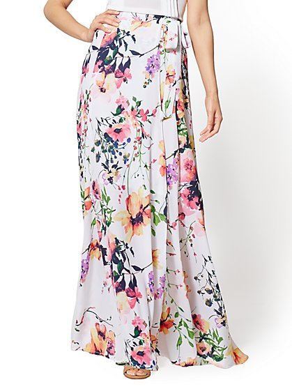 7th Avenue Petite - Floral Maxi Skirt - New York & Company