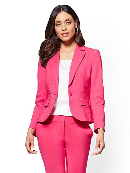 7th Avenue Petite Jacket - One-Button - Modern - All-Season Stretch - New York & Company
