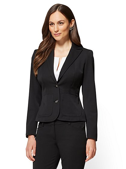 7th Avenue Petite Jacket - Topstitched Two-Button - SuperStretch - New York & Company