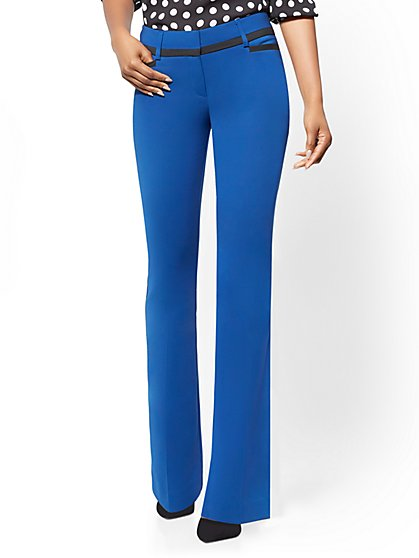 7th Avenue Petite Pant - Blue Bootcut - Modern - All-Season Stretch - New York & Company