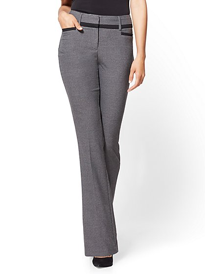 7th Avenue Petite Pant - Bootcut - Modern - Heather Grey - New York & Company