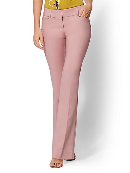 7th Avenue Petite Pant - Pink Bootcut - Modern - All-Season Stretch - New York & Company