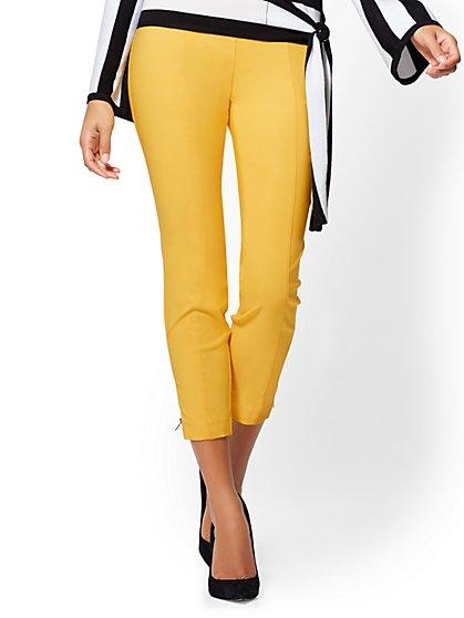 7th Avenue Petite Pant - Pull-On Slim Leg - Modern - Zip Accent - New York & Company