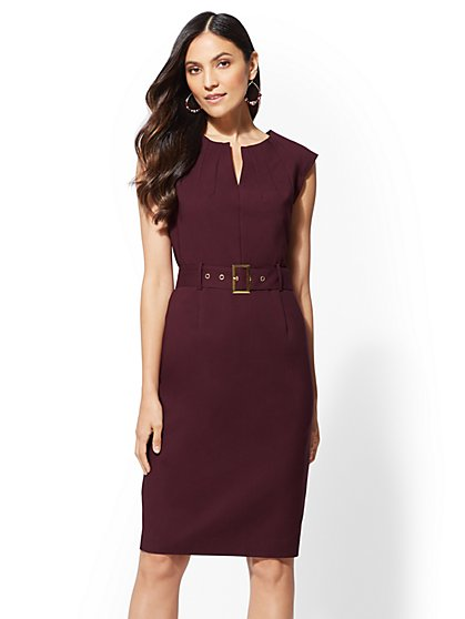 7th Avenue - Petite Sheath Dress - All-Season Stretch - New York & Company
