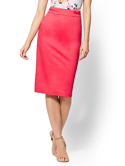 7th Avenue - Pink Pencil Skirt -Modern - New York & Company