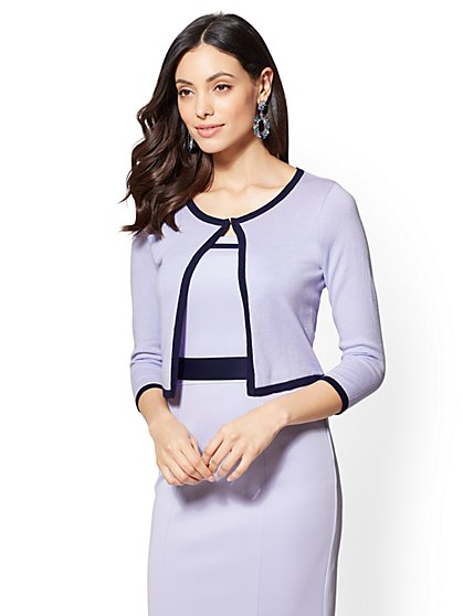 7th Avenue - Piped Dress Cardigan - New York & Company