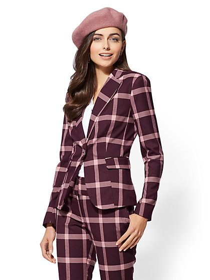 7th Avenue - Plaid 1-Button Jacket - New York & Company