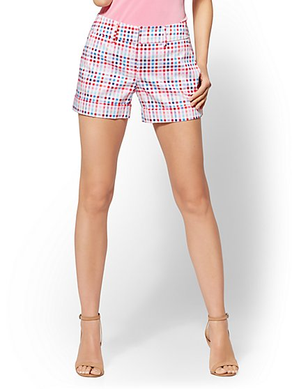 7th Avenue Plaid 4 Inch Short - Modern - New York & Company