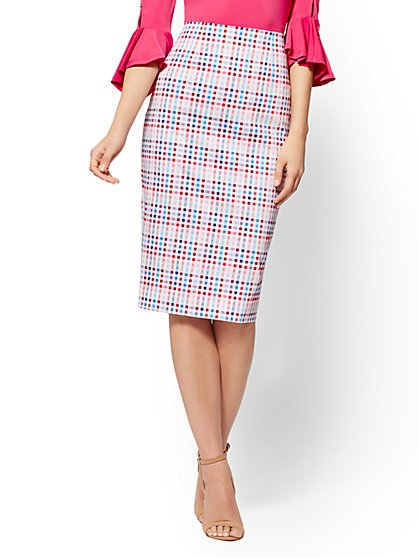 7th Avenue - Plaid Pencil Skirt - Modern - New York & Company