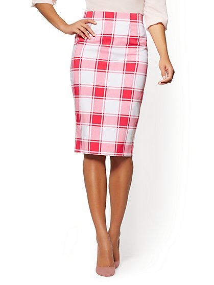 7th Avenue Plaid Pencil Skirt - New York & Company