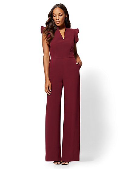 7th Avenue - Ruffled-Sleeve Jumpsuit - New York & Company