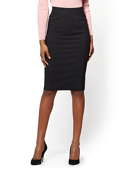 7th Avenue - Seamed Pencil Skirt - All-Season Stretch - New York & Company