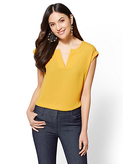 7th Avenue - Split-Neck Top - New York & Company