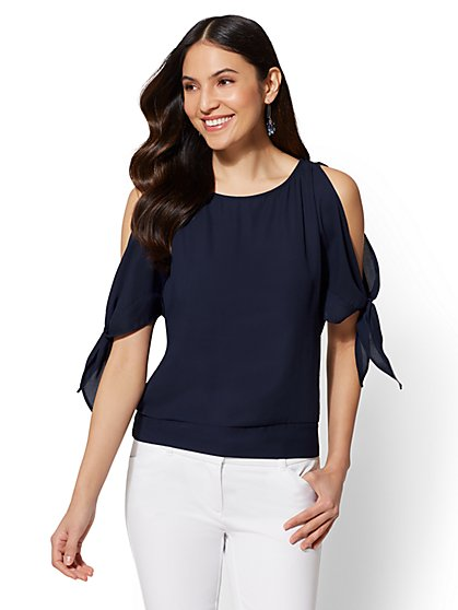 7th Avenue - Split-Sleeve Dolman Blouse - New York & Company