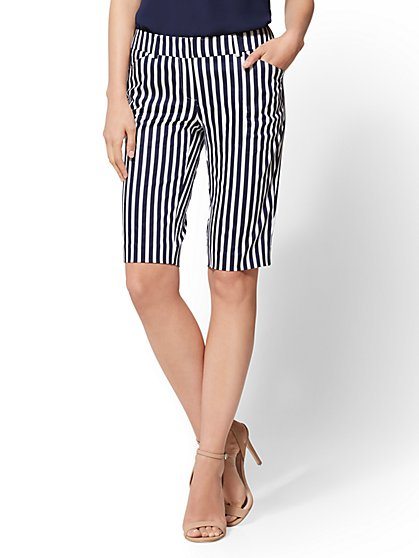 7th Avenue - Stripe Bermuda Short - Signature - New York & Company
