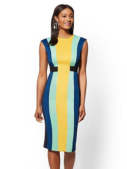 7th Avenue Tall Colorblock Sheath Dress New York Company
