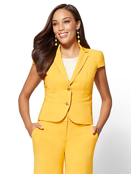 7th Avenue - Tall Lace-Up Two-Button Jacket - All-Season Stretch - New York & Company
