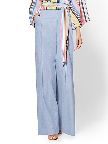 7th Avenue Tall Pant - High Waist Pleated Palazzo Pant - New York & Company