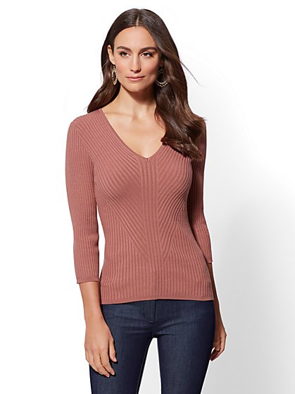 7th Avenue - Tall V-Neck Sweater - New York & Company