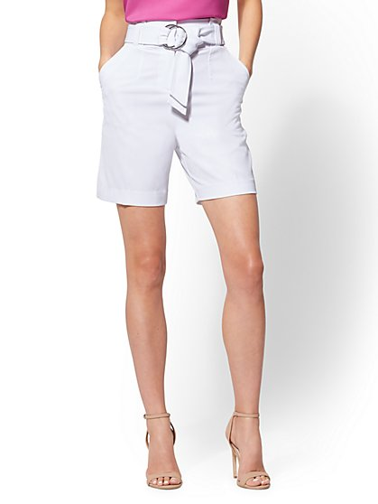 7th Avenue - White 6 Inch Bermuda Short - New York & Company