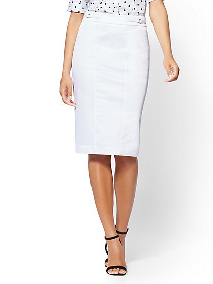 7th Avenue - White Pencil Skirt - Modern - New York & Company