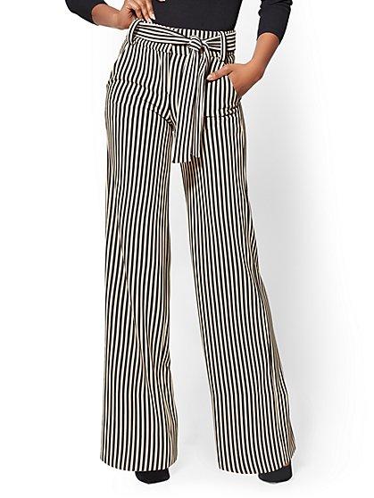 7th Avenue - Wide-Leg Pant - Stripe - New York & Company