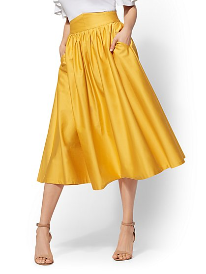 7th Avenue - Yellow Full Skirt - New York & Company