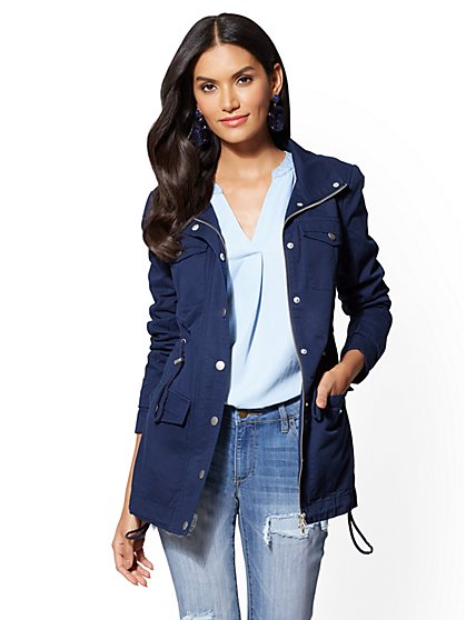 Anorak Jacket - Navy - New York & Company