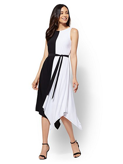 Asymmetrical- Hem Midi Dress - New York & Company