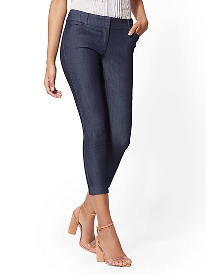Audrey Crop Pant - Navy - New York & Company