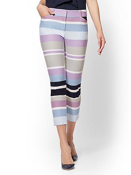 Audrey Crop Pant - Striped Slim Leg - New York & Company