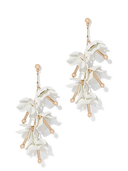 Beaded Floral Drop Earring - New York & Company