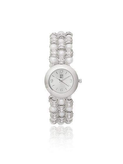 Beaded Stretch Band Watch - New York & Company