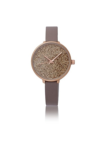 Beige Ombre Glitter Watch - New York & Company